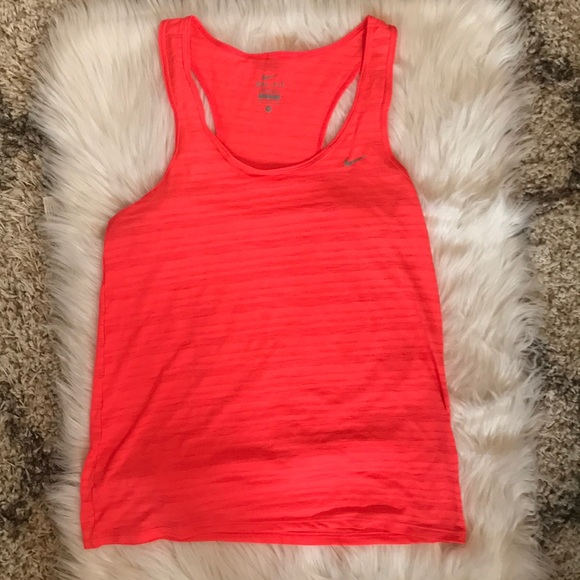 Nike Dri Fit Coral Racer Back Workout Tank Top